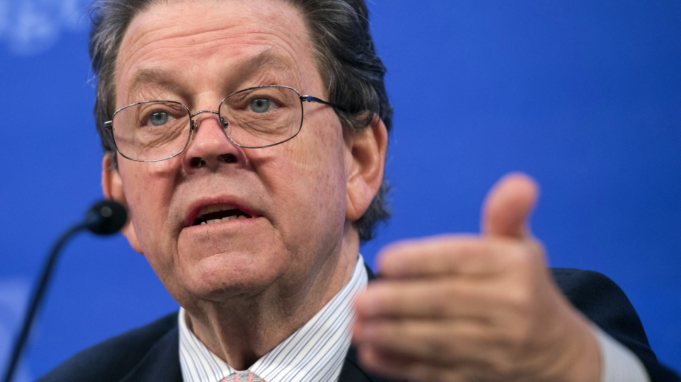 Economist Arthur Laffer speaks about the economy during a panel discussion at the Heritage Foundation on December 18, 2014 in Washington, DC.