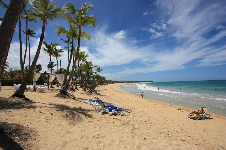 A beach at the Punta Cana resort in the Dominican Republic.
