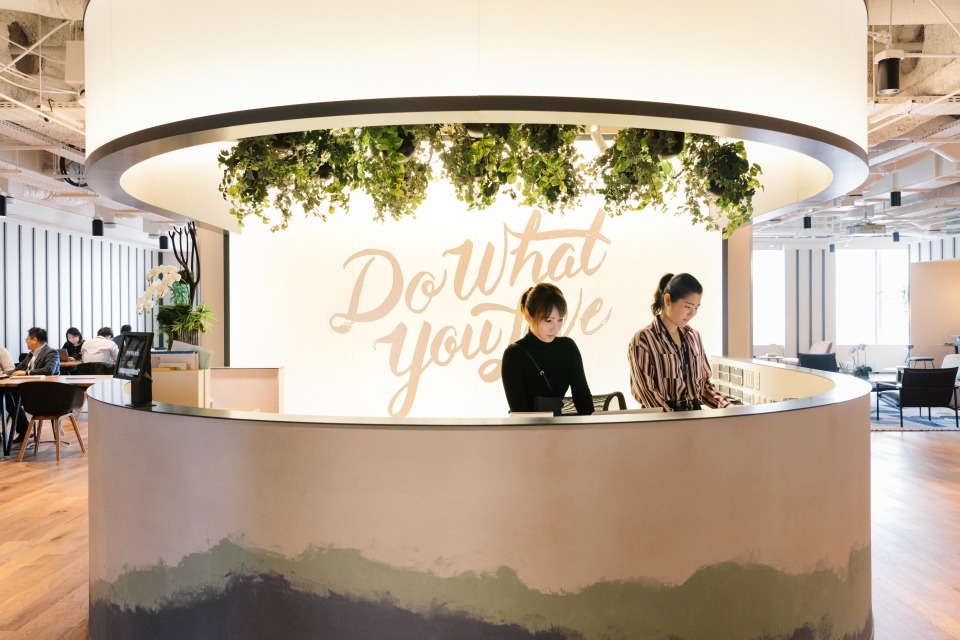 A WeWork co-working location in Tokyo.