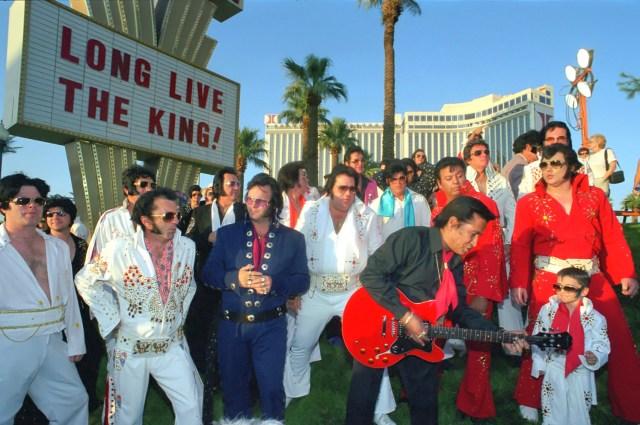 Elvis impersonators gather in Las Vegas