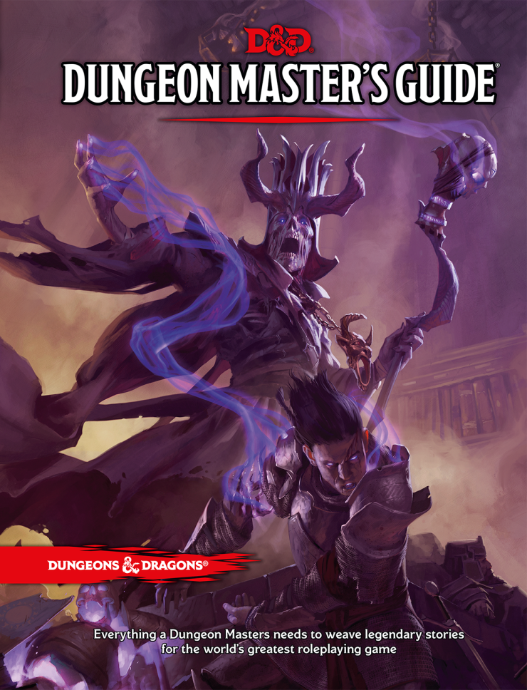 The cover of the fifth edition of the Dungeons & Dragons Dungeon Master's Guide