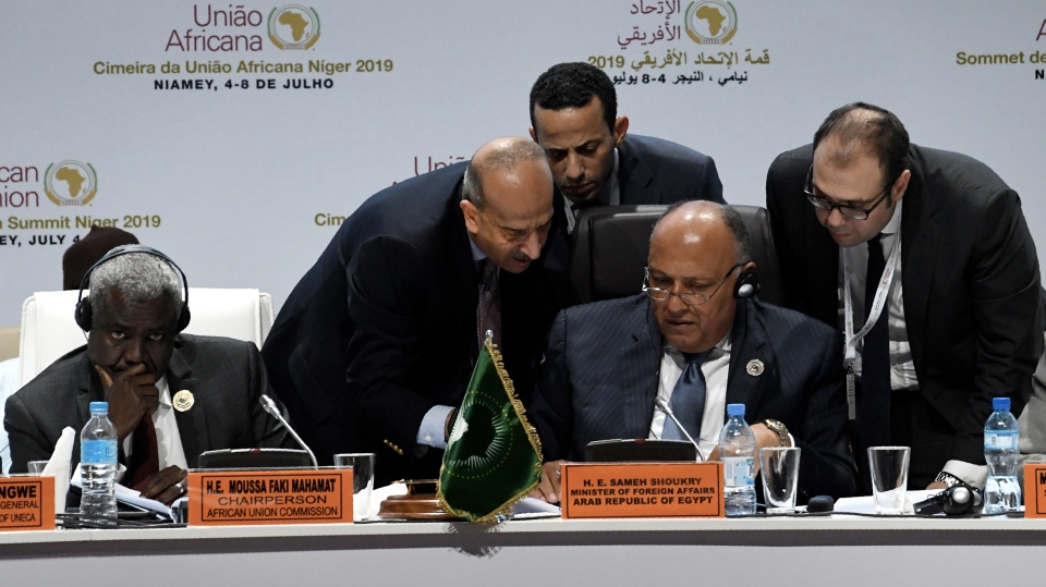 African Union leaders meet on July 5 in Niamey, Niger. The launch of the AfCFTA was the focus of a summit held in Niamey.