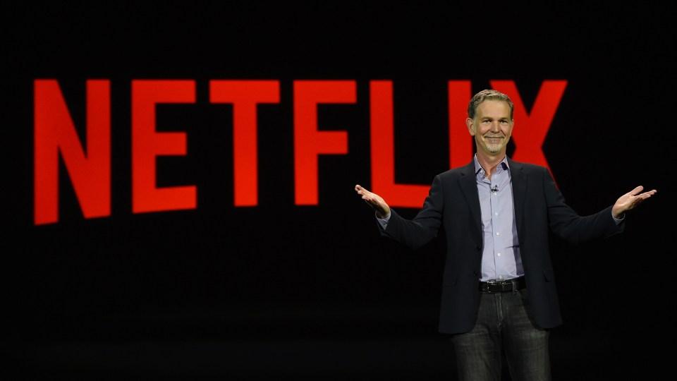 Netflix CEO Reed Hastings speaks at CES in Las Vegas in 2016.