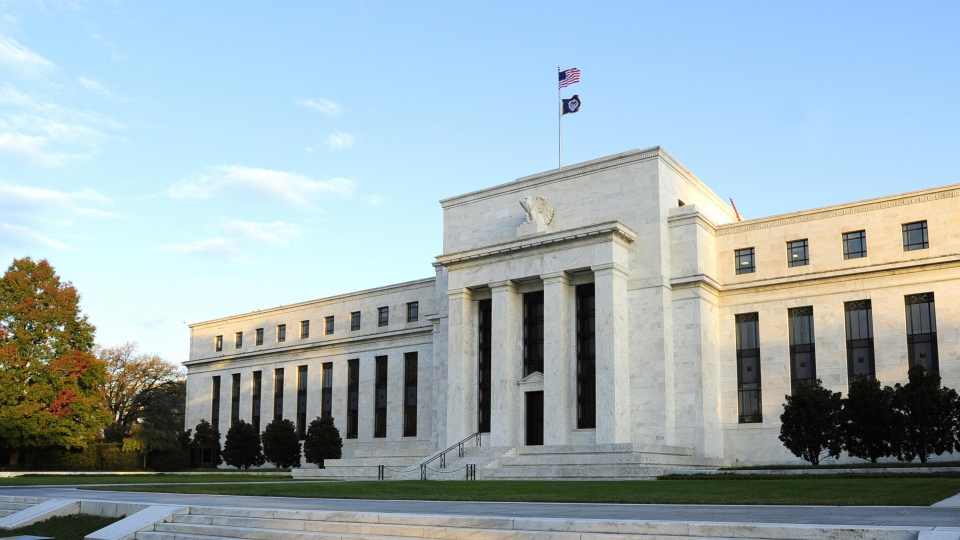 A view of the U.S.'s central bank, the Federal Reserve, in Washington D.C.