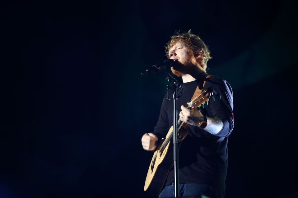 Ed Sheeran performs at Mt. Smart Stadium in 2018 in Auckland, New Zealand.