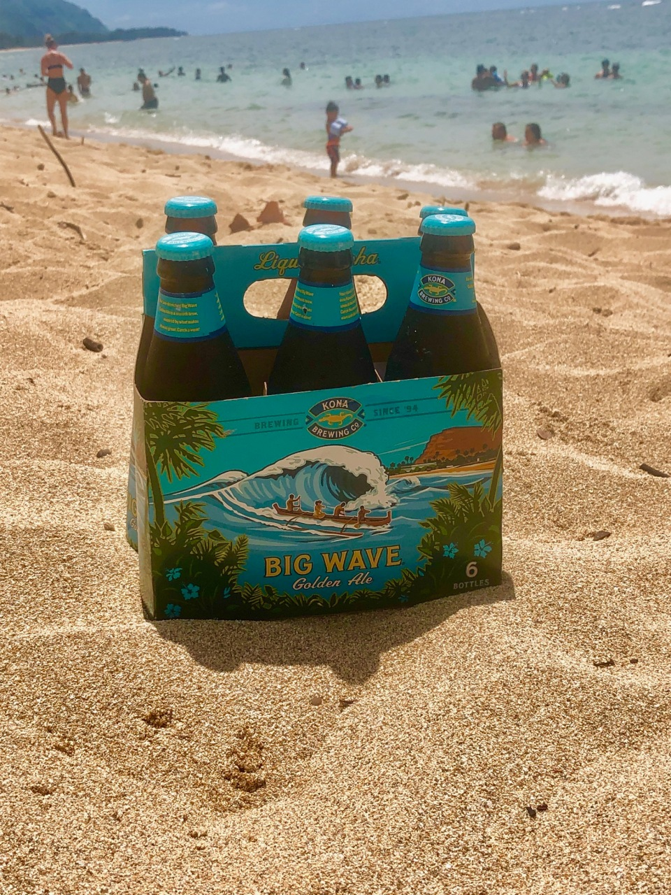 Kona Brewing Company's Big Wave Golden Ale seen on the North Shore of Oahu. Following the June settlement, Kona will include brewing location on its cardboard packaging.