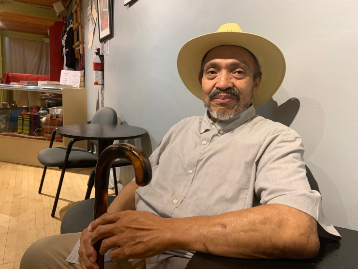 """Angel Mendez Soto performs in """"Northside,"""" a play about the effects of gentrification in northwest Denver."""