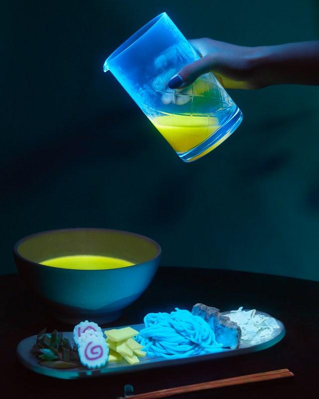 Glow in the Dark Ramen Meal