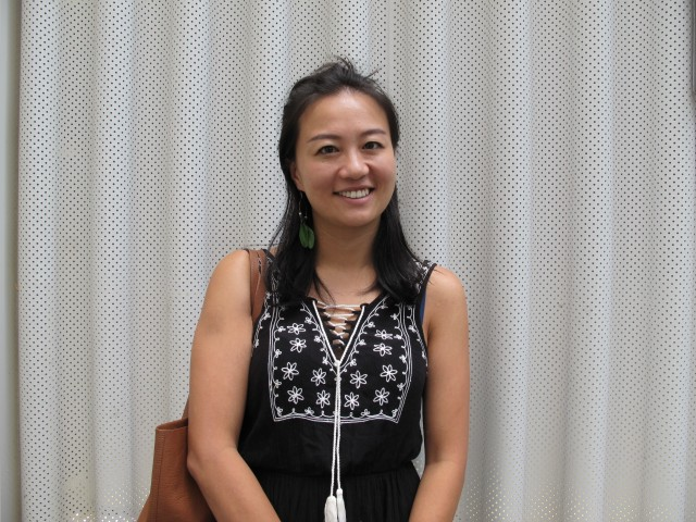 UCLA graduate Elaine Hu said China's film industry is also affected by the current trade tensions. Photo credit: Charles Zhang/Marketplace