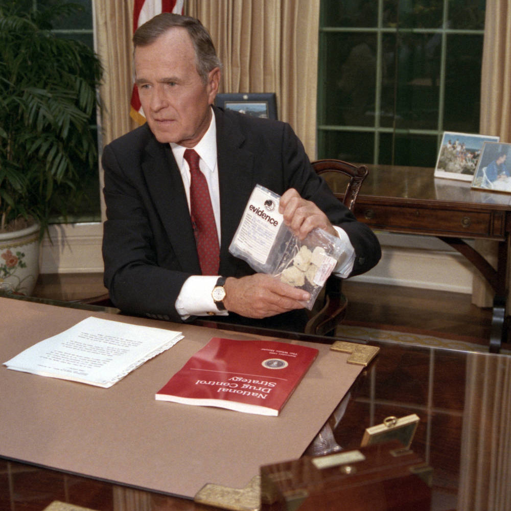 George Bush's infamous crack speech, 30 years later
