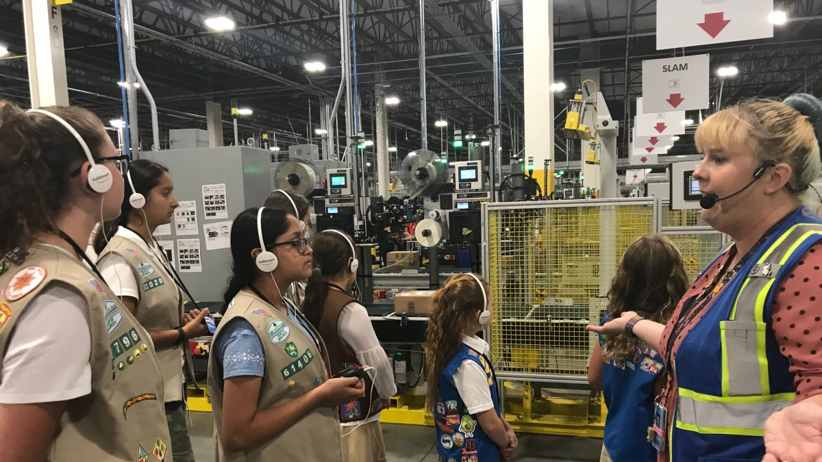Amazon wants the public to know its warehouses are fun enough for the Girl Scouts