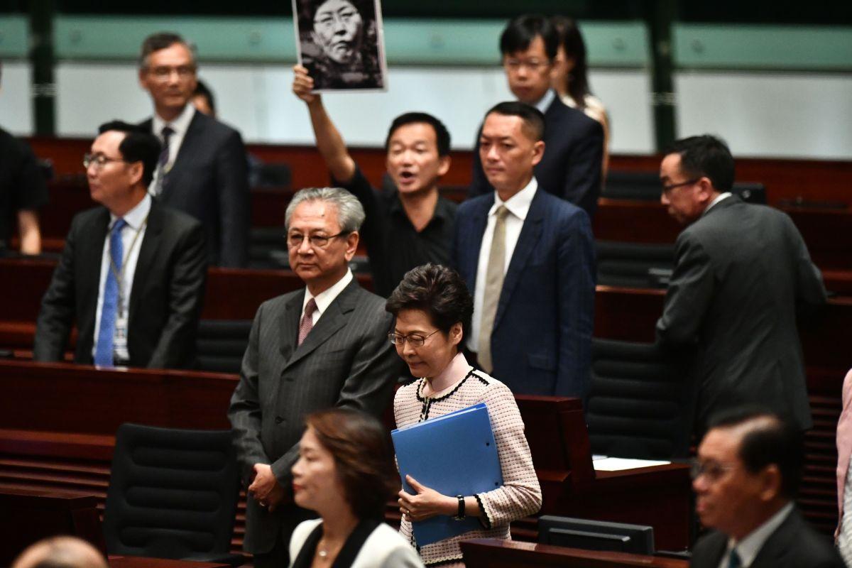 Will Hong Kong's leader keep her job?