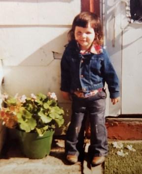Laura Hamilton as a child on her family's farm in North Dakota.