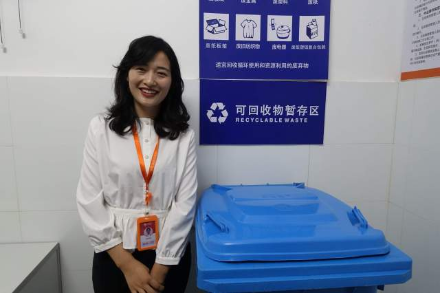 Sun Xiaobin with e-commerce firm Baiqiu. Credit: Charles Zhang/Marketplace