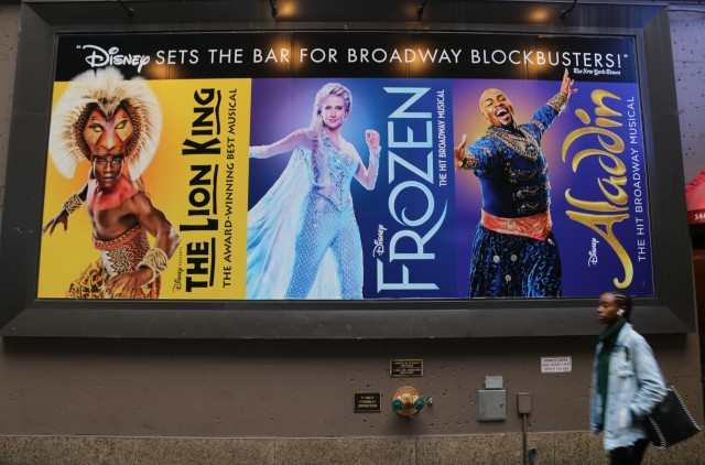 Many of the big musicals on Broadway these days have Hollywood studios behind them.