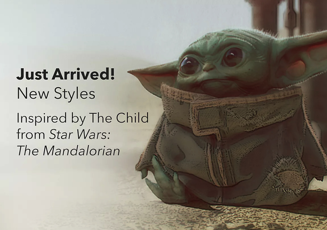 Disney is offering a limited selection of Baby Yoda merchandise.