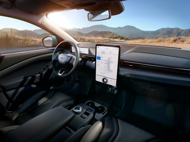Ford has given the Mustang Mach-E a Tesla-style touchscreen.