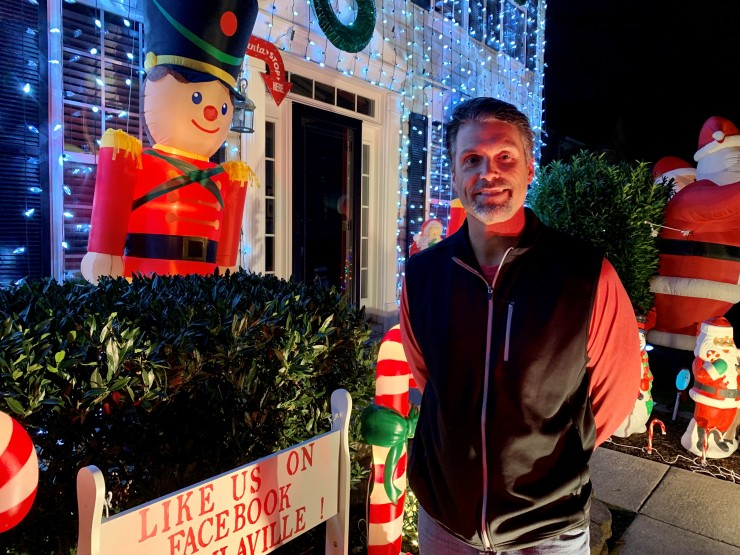 Robbie Mamula, 48, estimates he's spent more than $5,000 on holiday decorations over the years.