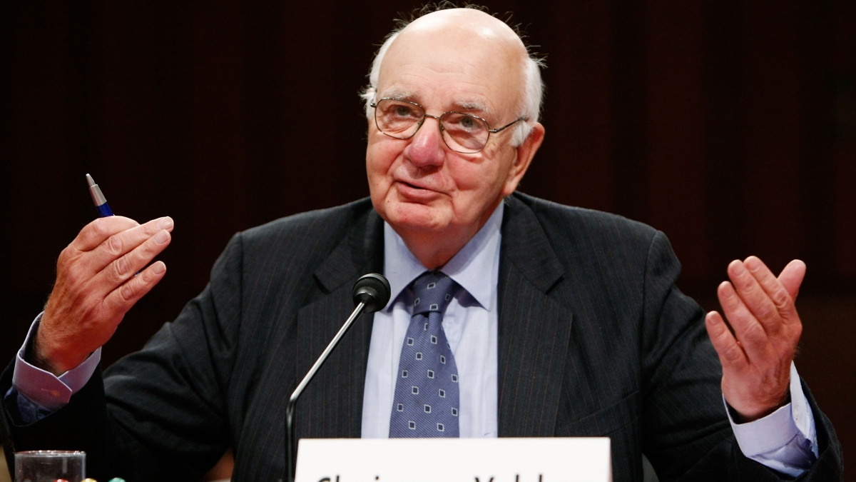 Paul Volcker's battle against inflation pushed interest rates up to 20%