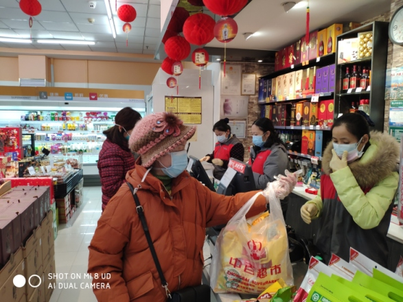 A photos taken at a supermarket in Wuhan city, the epicenter of the virus outbreak, during the Lunar New Year break shows shelves mostly stocked. However residents say a lot of stores are closing or lack basic supplies like meat and vegetables. (Courtesy of Tian Changxing)