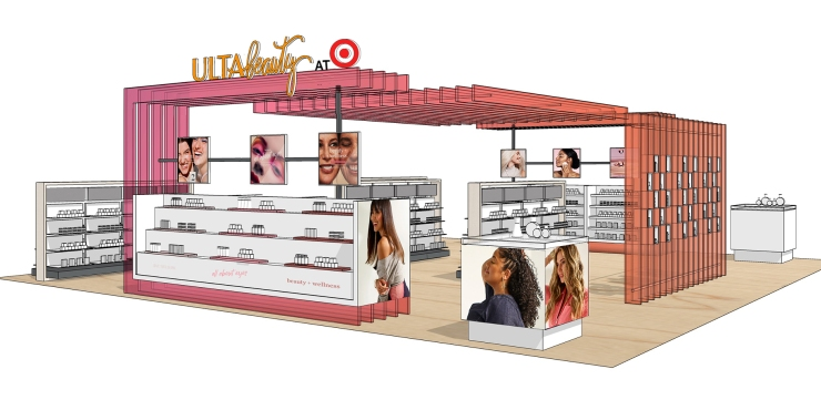 Target rendering of Ulta Beauty store-in-store location