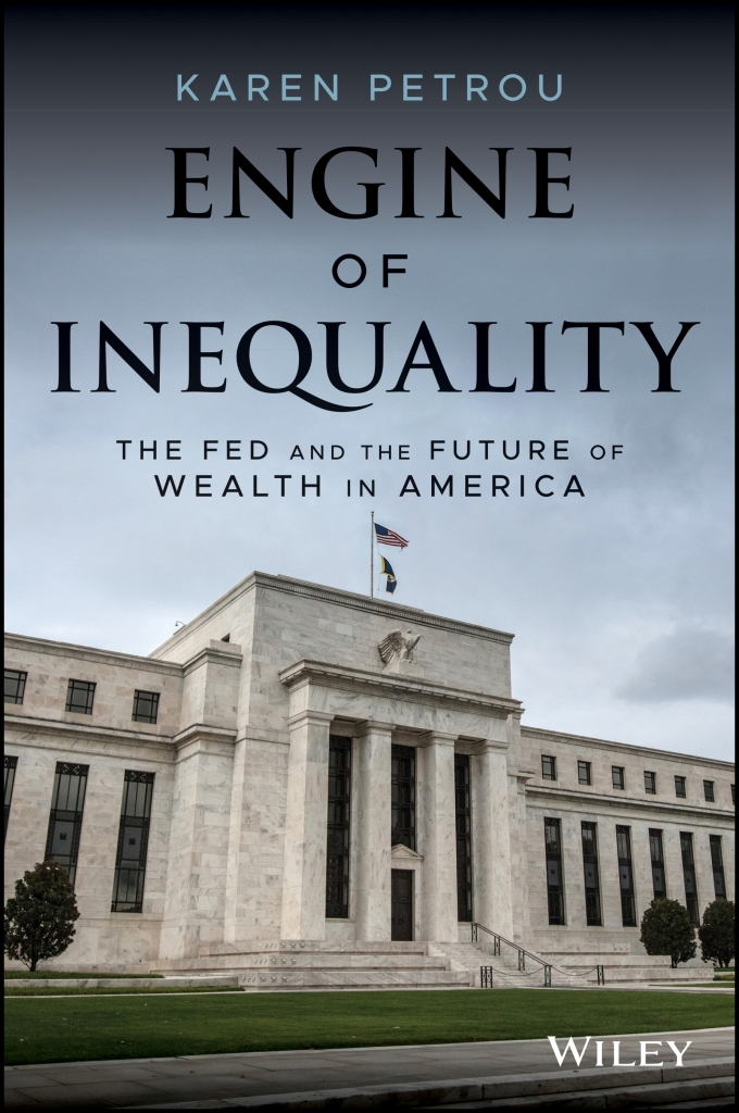 """The cover of the book """"Engine of Inequality: The Fed and the Future of Wealth in America."""""""