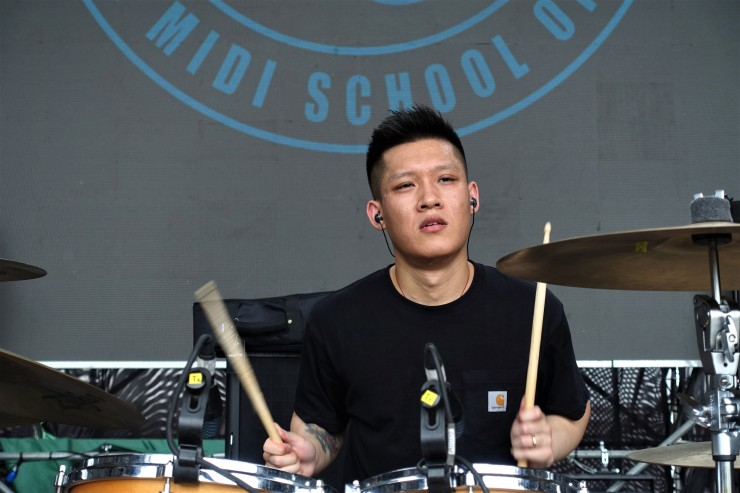 Punk band drummer De Sifan is the son of civil servants and is the first generation in his family free to determine what to pursue as his career. (Charles Zhang/Marketplace)