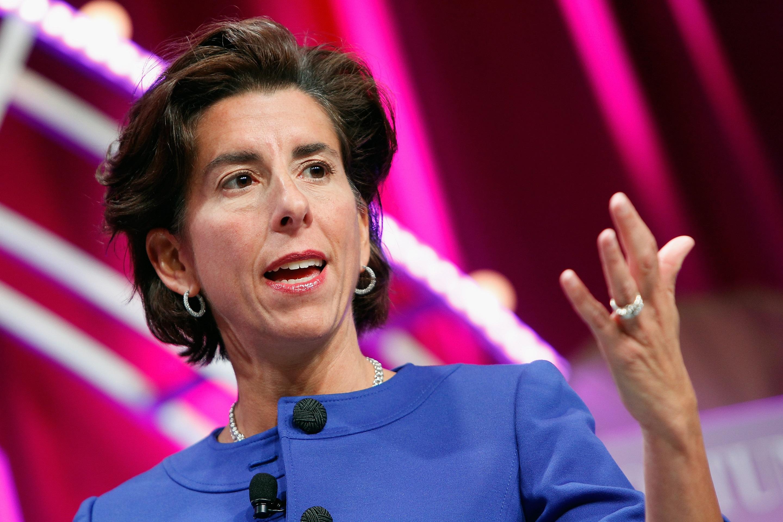 Commerce Secretary Gina Raimondo drops in to talk infrastructure, chips and the care economy